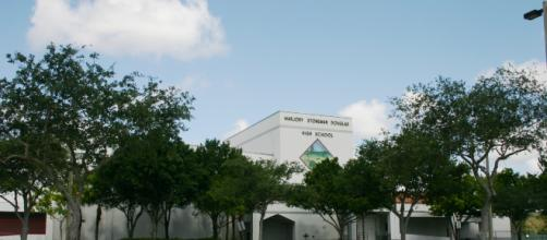 Marjory Stoneman Douglas High School, where 17 people lost their lives. [Image via Formulanone Wikimedia Commons]
