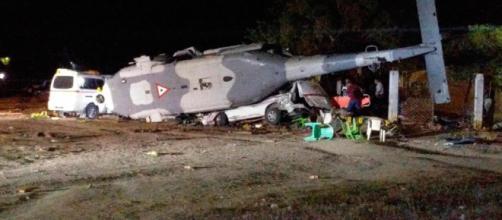Mueren 13 tras estrellarse un helicóptero en México