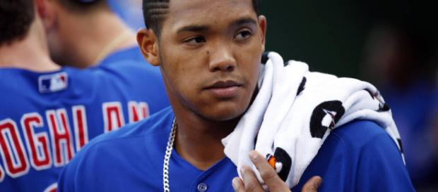 Cubs' Addison Russell back with team following domestic violence ... - [Image via reviewjournal/YouTube]