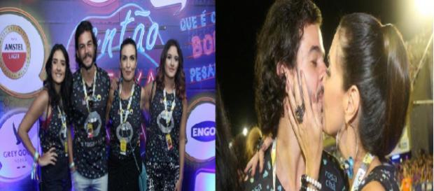 Fátima Bernardes vai com as filhas e o namorado ao Carnaval carioca