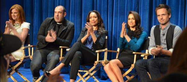 Meghan Markle in Paley Center 'Suits' (Image credit – Genevieve, Wikimedia Commons)