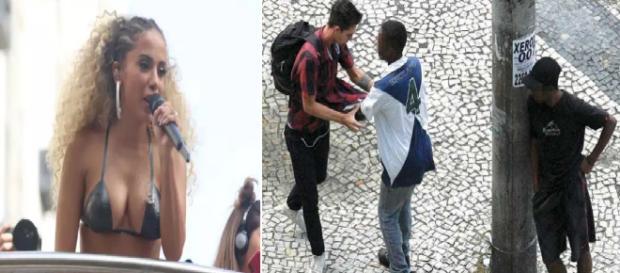Vídeo mostra a cantora Anitta interrompendo show para dar 'bronca' em ladrão. (Foto Reprodução).