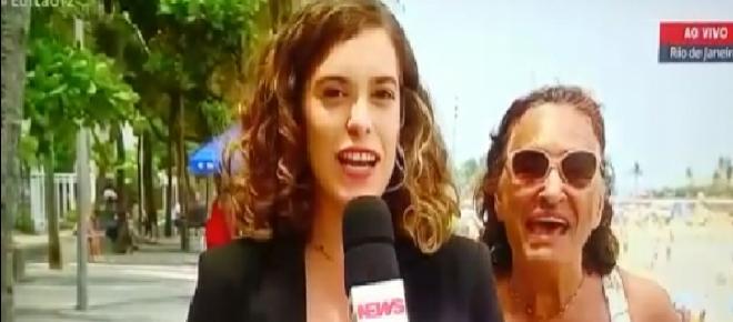 Mulher invade um link ao vivo e fala 'Globo lixo' durante uma reportagem; veja