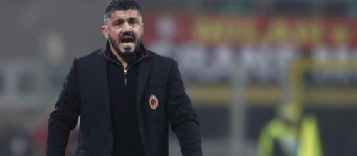 Gattuso durante una partita del Milan