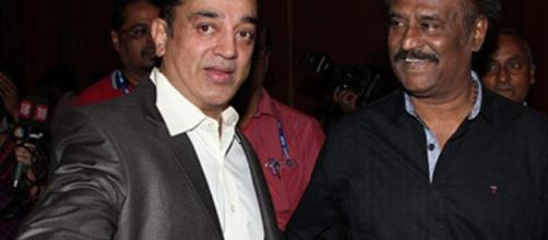 Kamal Hassan met Rajnikanth for five minutes. Image credit Republic TV-Youtube.com