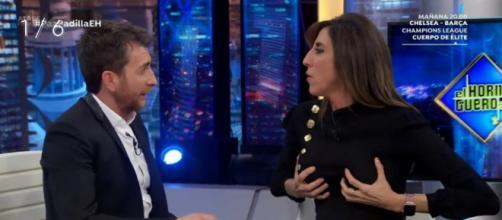 Paz Padilla y Pablo Motos en una entrevista de El Hormiguero
