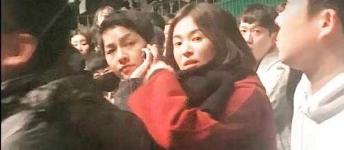 Song Joong-Ki and Song Hye-Kyo [Image Credit: Jun Ji Le/YouTube]