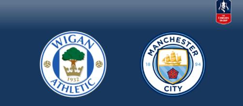 Wigan Athletic and Manchester City.