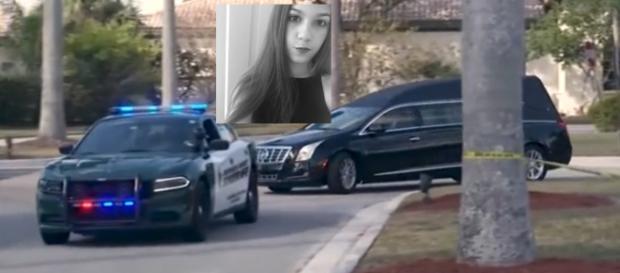 Jaime Guttenberg wurde mit Polizeieskorte am 18.02.2018 zu Grabe getragen / Fotos: Mail.com, Fred Guttenberg privat