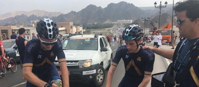 Ciclismo, una novità assoluta sulle biciclette del Team Aqua Blue Sport