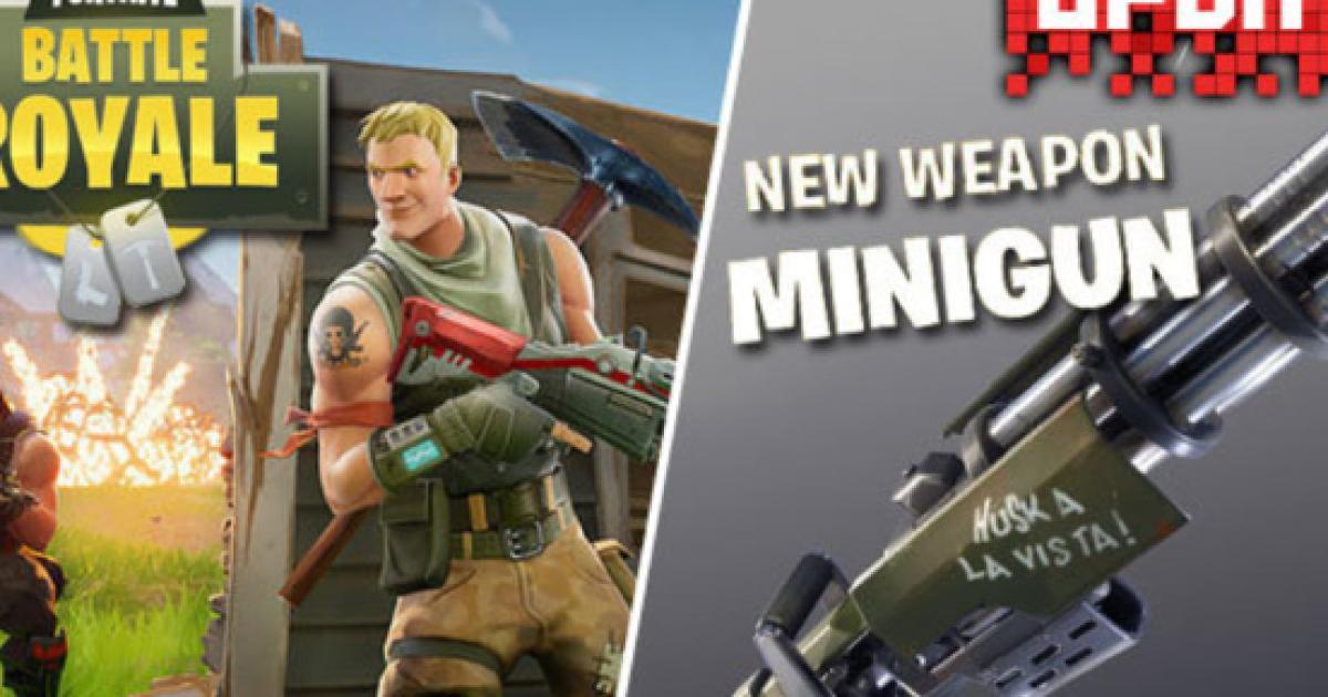 fortnite minigun and auto run features go live - fortnite how to auto run