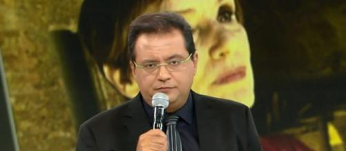 Apresentador Geraldo Luis no Domingo Show. (Foto Reprodução).