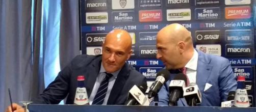 Cagliari, Giulini ed il ds Rossi