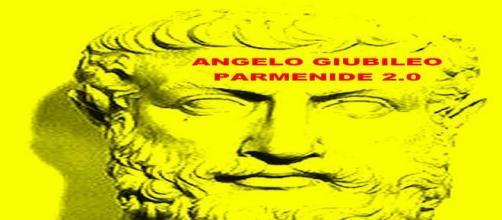 """Copertina dell'eBook di Angelo Giubileo """"Parmenide 2.0"""" (Asino Rosso)"""