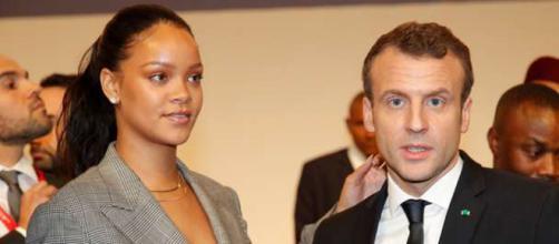 Rihanna y Macron recaudan millones en visita a Senegal