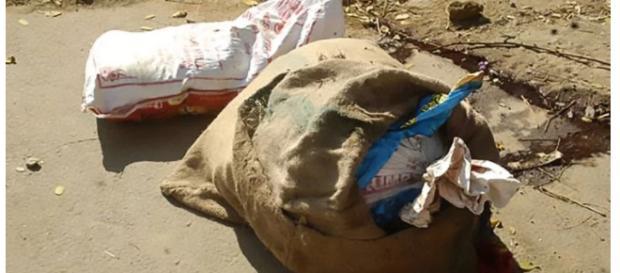 Corpo de mulher é encontrado dentro de sacos