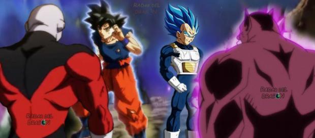 Jiren vs Goku y Vegeta vs Toppo