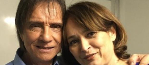 Roberto Carlos aumenta rumores de proximidade com Myriam e fala em estar aberto ao amor.