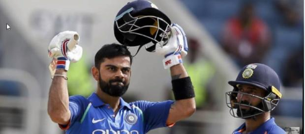Virat Kohli bagged another fine century in Durban as his team chased down South Africa. [image source: All India Cricket/YouTube screenshot]