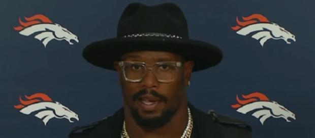 Von Miller and the Broncos defeated the Patriots in the 2014 AFC Championship Game (Image Credit: Denver Broncos/YouTube)