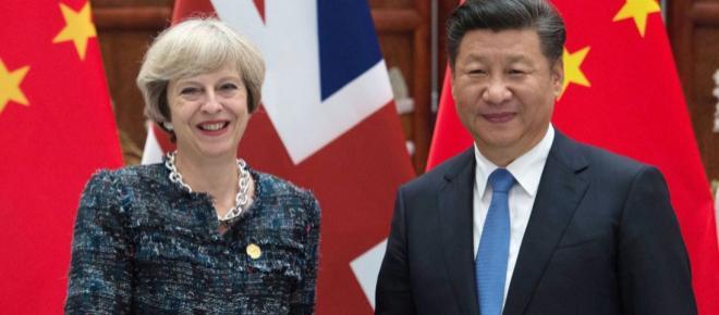 Theresa May's China visit compared to John Major's