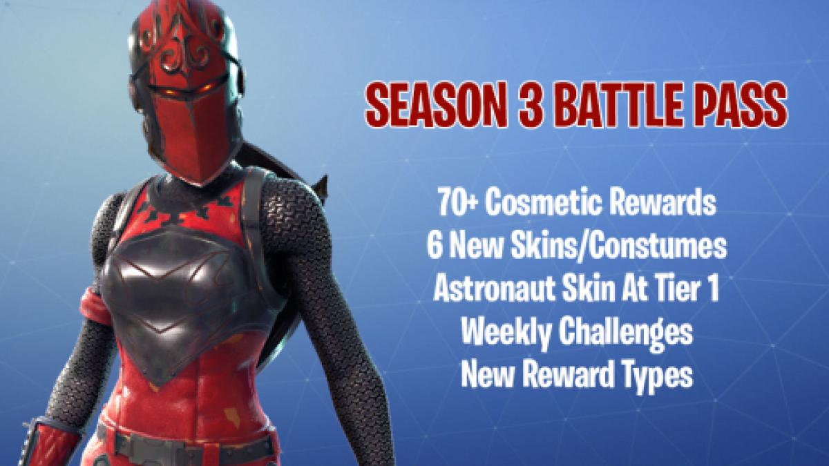 Fortnite Battle Royale Season 3 Battle Pass Info