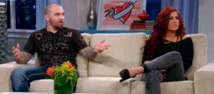 Adam Lind and Chelsea Houska are seen on 'Teen Mom 2.' [Photo via MTV/YouTube]
