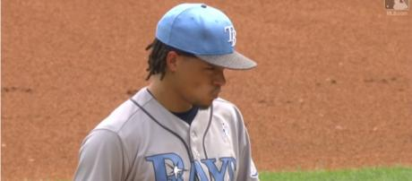 Chris Archer pitching with Tampa in 2017 - image - MLB / YouTube