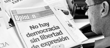 libertad de expresión española inexistente