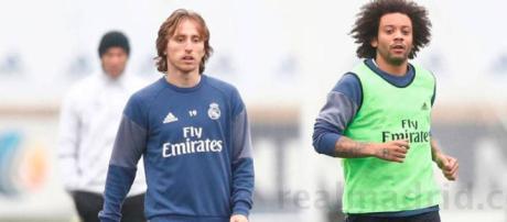 Luka Modric y Marcelo están en una carrera para estar en forma para enfrentar al Paris Saint-Germain