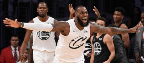 NBA All Star Team LeBron James venció 148-145 al Team Stephen Curry.