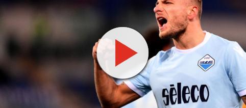 Immobile esulta dopo il gol al Verona