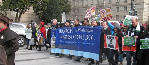 A previous gun control demonstration - Slowking4 via Wikimedia Commons
