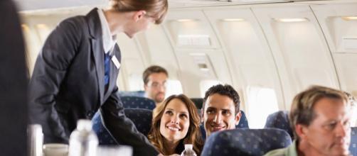 Comida de en avión es una manera de traer a mas pasajeros