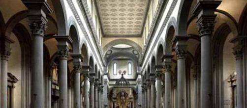 La Iglesia del Santo Espíritu en Florencia