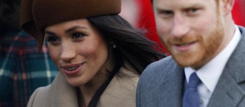 Meghan Markle in coppia con il principe Harry