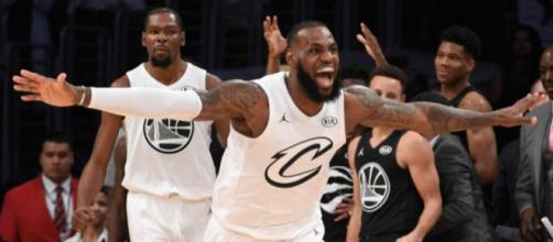 NBA All Star Team LeBron James venció 148-145 al Team Stephen Curry.