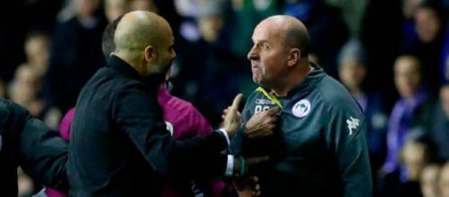 Wigan Athletic 1 Manchester City 0 Will Grigg quema los sueños cuádruples de Pep Guardiola.