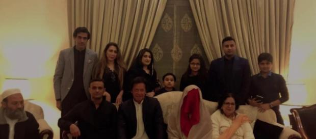 Imran introducing his wife. Photo screen shot Times news channel-Youtube.com