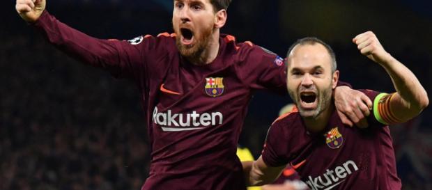 Messi anoto contra el Chelsea hoy