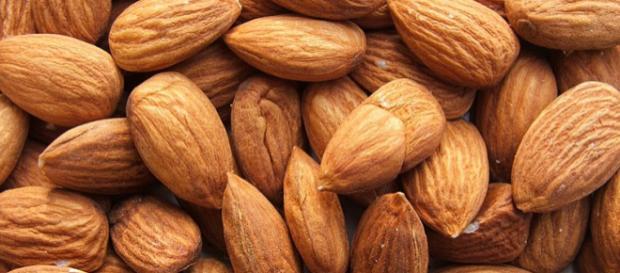 Shelled almonds on display (Image credit – Luigi Chiesa, Wikimedia Commons)