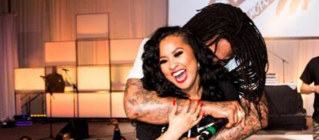 Tammy Rivera and Waka Flocka took the stage to perform together for the first time ever. [Image via Tammy Rivera/Instagram]