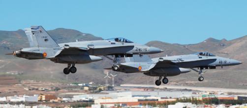 Accidente en demostración de la Fuerza Aérea Española
