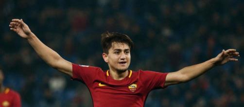 Cengiz Under, autore del gol della Roma nella sfida d'andata degli ottavi di Champions League contro lo Shakhtar