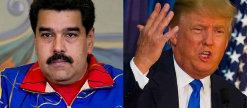 El presidente venezolano Nicolás Maduro y el mandatario republicano de los Estados Unidos Donald Trump.