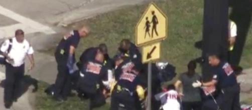 Personas rescatadas en tiroteo