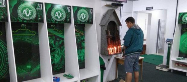 Foto del vestuario del Chapecoense muestra la crudeza del ... - peru.com