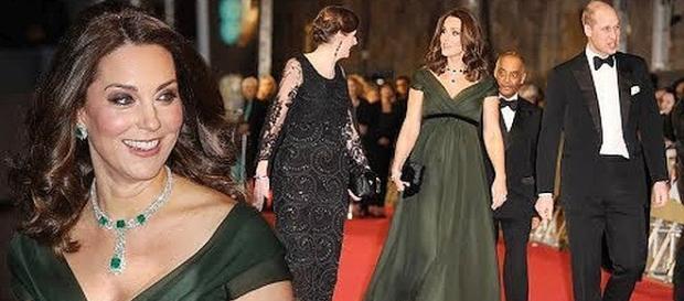 Kate Middleston did not wear a black dress to BAFTA ceremony [Image Credit: Royal Insider/YouTube screenshot]