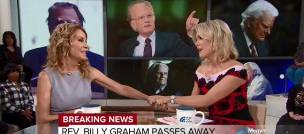 Kathie Lee Gifford shares beloved personal stories of Billy Graham, including burgers, with Megyn Kelly. Image cap TODAY/YouTube