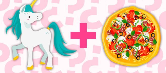 ¿Adivinen qué? ¡La tendencia de Unicornio ahora en tu pizza!